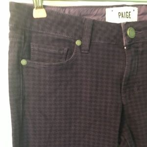 Paige Jeans Porter Alma Purple Checked 27 4 Skinny